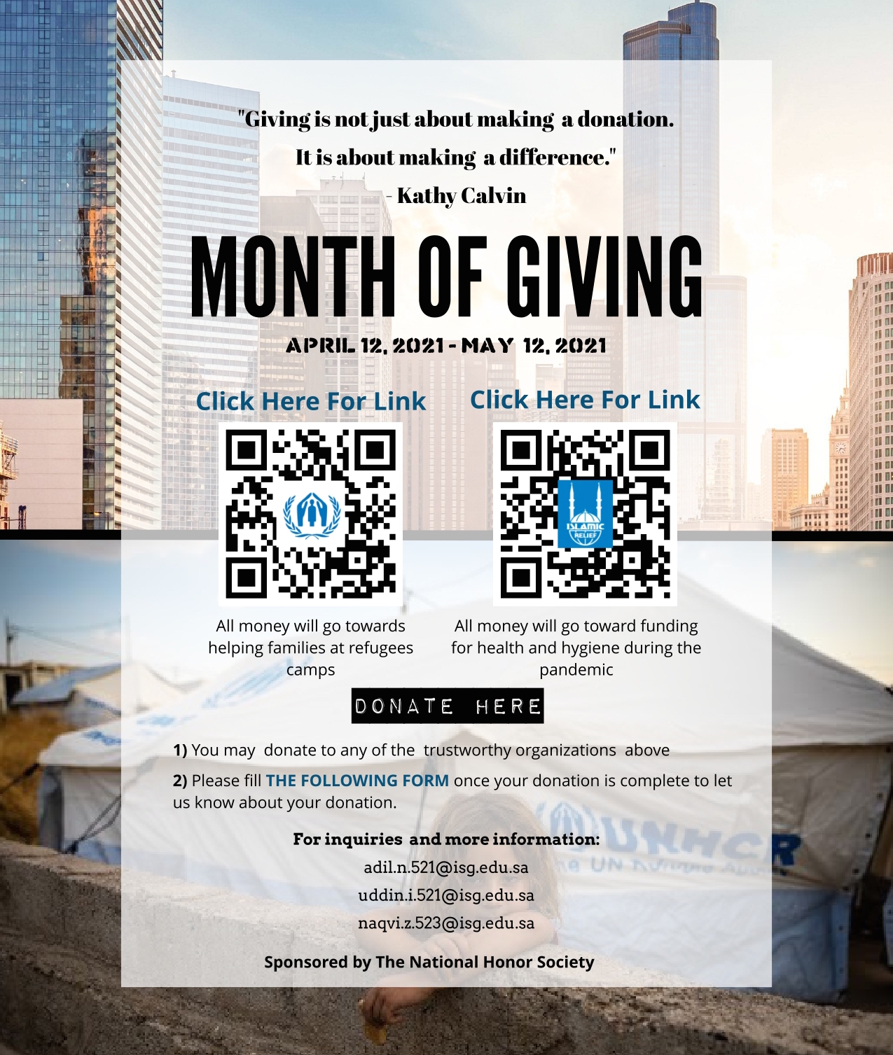 NHS Month of Giving